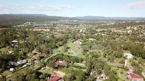 Proprietà australiana della casa di superficie in acri - il fuco ha sparato d'altezza 80 metri video d archivio