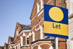 Proprietà da lasciare, Londra. Immagini Stock Libere da Diritti
