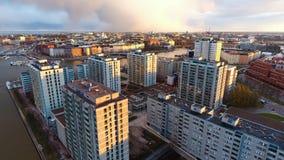 Proprietà del distretto di Merihaka, Helsinki, Finlandia Fotografia Stock Libera da Diritti