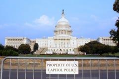 Proprietà della polizia degli Stati Uniti Campidoglio Immagine Stock Libera da Diritti