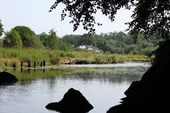 Proprietà della riva del fiume Fotografie Stock