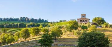 Proprietà di Castello di Albola Fotografie Stock