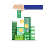 Proprietà di investimento in immobili Immagine Stock Libera da Diritti