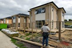 Proprietà e mercato immobiliare di alloggio della Nuova Zelanda Immagine Stock