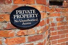 Proprietà privata Fotografia Stock