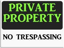 Proprietà privata Immagine Stock