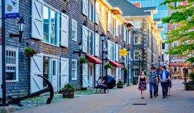 Proprietà storiche, Halifax Nova Scotia, Canada immagini stock libere da diritti