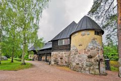 Proprietà terriera di Hvittrask, Kirkkonummi, Finlandia Ristorante e il Café immagine stock