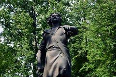 Proprietà terriera di Izmailovo a Mosca Monumento all'imperatore russo Peter First fotografia stock libera da diritti