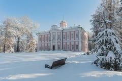 Proprietà terriera Vyazemy pieno di inverno a Mosca Russia immagine stock libera da diritti