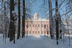 Proprietà terriera Vyazemy pieno di inverno a Mosca Russia fotografia stock