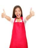 Proprietário empresarial pequeno feliz excitado Imagens de Stock