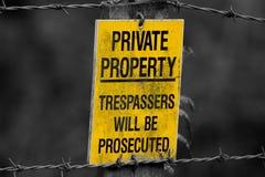 Proprietà privata del segno Immagini Stock Libere da Diritti