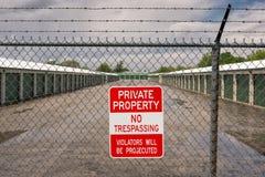 Proprietà privata nessun trasgredire Fotografie Stock Libere da Diritti