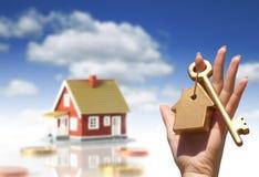 Proprietario della nuova casa. Immagini Stock