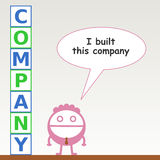 The proprietor. A group of blocks built by a business man that spells the word company Royalty Free Stock Photo