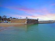 Proprio forte da Bandeira a Lagos nel Portogallo al tramonto Immagine Stock