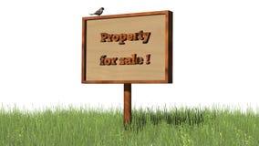 Propriété de ` d'herbe de connexion à vendre le ` Images libres de droits