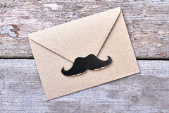 Props mustache on envelope. Stock Image