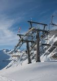 Props ski lifts. Solden. Austria Royalty Free Stock Photo