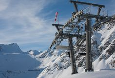 Props ski lifts. Solden. Austria Royalty Free Stock Image