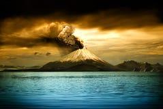 Volcanes y todas las cosas relacionados Fotografía de archivo libre de regalías