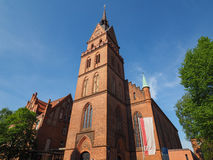 Propsteikirche Herz Jesu church in Luebeck. LUEBECK, GERMANY - CIRCA MAY 2017: Propsteikirche Herz Jesu (Church of the Sacred Heart of Jesus royalty free stock images