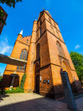 Propsteikirche Herz Jesu church in Luebeck hdr. Propsteikirche Herz Jesu (Church of the Sacred Heart of Jesus) in Luebeck, Germany, hdr royalty free stock images