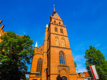Propsteikirche Herz Jesu church in Luebeck hdr. Propsteikirche Herz Jesu (Church of the Sacred Heart of Jesus) in Luebeck, Germany, hdr royalty free stock photography