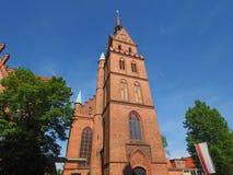Propsteikirche Herz Jesu church in Luebeck. Propsteikirche Herz Jesu (Church of the Sacred Heart of Jesus) in Luebeck, Germany stock photo