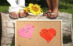 Propuesta de matrimonio Imágenes de archivo libres de regalías