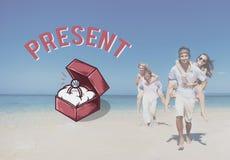 Propuesta de matrimonio que se casa concepto de la ceremonia del amor Foto de archivo libre de regalías