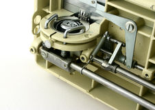 Propulsion. Of sewing machine viewed from an angle Royalty Free Stock Images