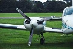 Propulsor de aeroplano Aviones del motor Aeroplano foto de archivo libre de regalías