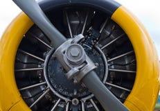 Propulsor de los aviones de norteamericano Harvard fotos de archivo