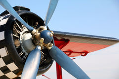 Propulsor del aeroplano viejo Imagen de archivo libre de regalías