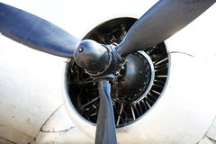 Propulsor del vintage de Douglas DC-3 Imágenes de archivo libres de regalías