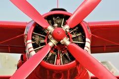 Propulsor plano rojo Fotos de archivo