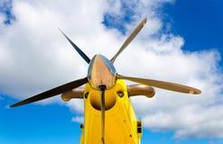 Propulsores de los aviones, motor con las cuchillas de propulsor fotografía de archivo libre de regalías