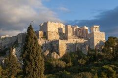Propyla av akropolen Arkivbild
