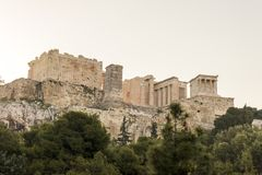 Propylaea, Αθήνα, Ελλάδα στοκ φωτογραφία