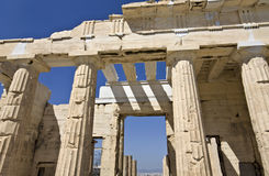 Propylaea at the Acropolis of Athens Royalty Free Stock Images