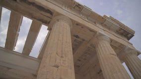 Propylaea antiguo almacen de metraje de vídeo