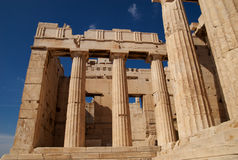 Propylaea, Atene, Grecia fotografia stock libera da diritti
