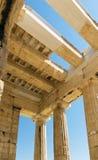 Propylaea of the Athenian Acropolis Stock Images