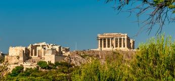 Propylaea brama i Parthenon obraz royalty free