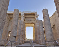 Propylaea, the monumental entrance of acropolis, Greece Stock Photo