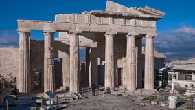 Propylaea -monumental gateway in the Acropolis of Athens. Attica, Greece Royalty Free Stock Image