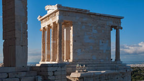 Propylaea -monumental gateway in the Acropolis of Athens. Attica, Greece Stock Photography