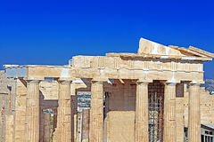 Propylaea is the monumental gateway to the Acropolis Royalty Free Stock Images